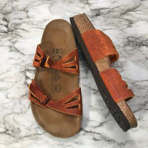 Birki's Birkenstock Granada Burnt Orange Sandal 9
